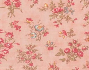 "SALE End of Bolt 1 yard 12.5"" of Printemps Primrose Spring Garden Pink by 3 Sisters for Moda"