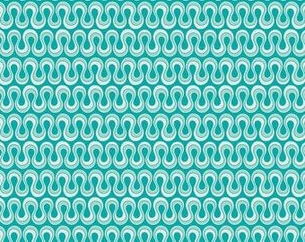 1 Yard Drift Blooming Algae Emerald by Angela Walters for Art Gallery Fabrics