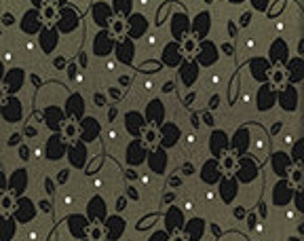 Brigitte Small Bloom Olive by Contempo Fabrics of Benartex