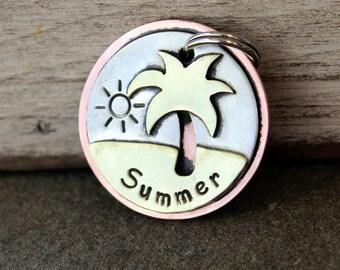 Dog Tag- Custom pet ID tag- Dog Tag- personalized metal Summer Beach tag