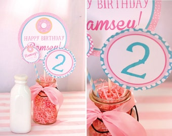 DIY, Donut Birthday Party PARTY PACK