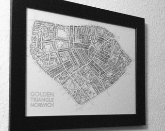 Golden Triangle Illustrated Map - A3 Print
