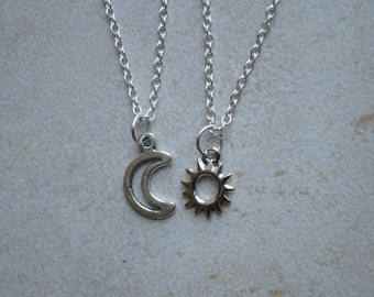 Sun and Moon Friendship Necklace
