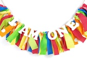 Carnival or Very Hungry Caterpillar Birthday Banner - Rainbow Birthday - Photoshoot Prop - Garland First Birthday Party Decor