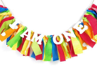 Carnival or Caterpillar Birthday Banner - Rainbow Birthday - Photoshoot Prop - Garland First Birthday Party Decor