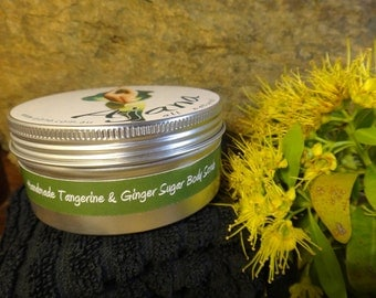 Tangerine & Ginger Fresh Handmade Body Scrub -200gm Tin