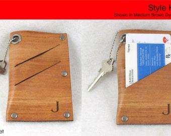 Women's Wallet - ULTRA SLIM Handmade Leather Wallet and Key Holder - Free Monogramming