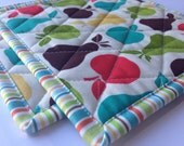 Fun and Fruity Quilted Kitchen Pot Holder Set