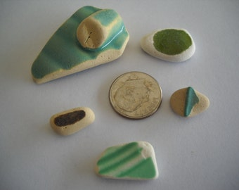 Genuine Sea Tumbled Beach Pottery From The Pacific Northwest