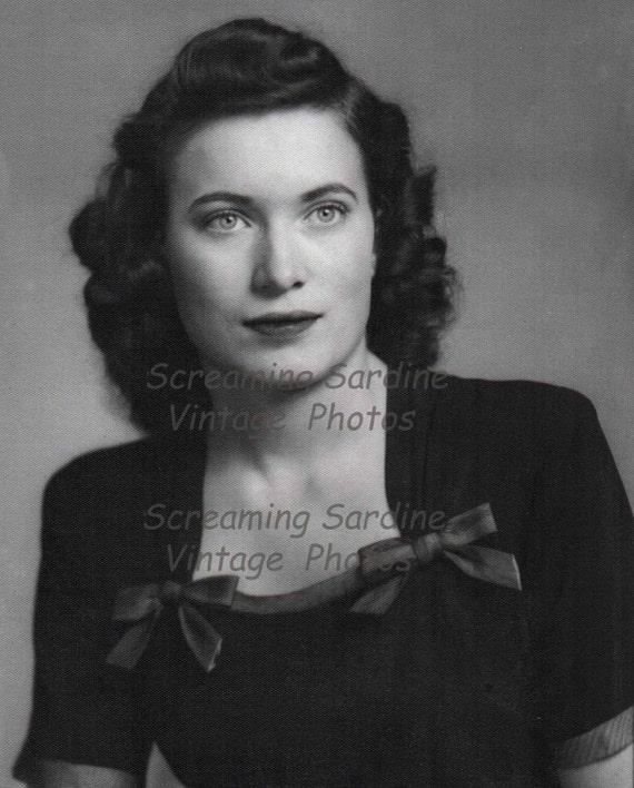 Vintage Digital Download Photo, Beautiful Woman