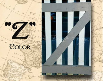 Letter Z Alphabet Photography Color 4 x 6 Photo Letter Unframed