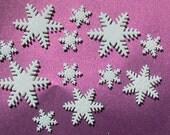 30- 100% Edible Gum paste Snowflakes