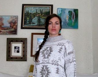 Vintage Navajo Pattern Sweater