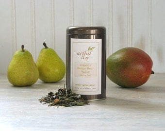 Organic Mango Pear White Tea • 1.5 oz. Tin • Luxury Loose Leaf Fruit Blend