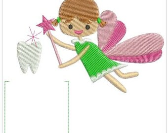 Tooth Fairy Embroidery Design With Pocket Embroidery Machine Design