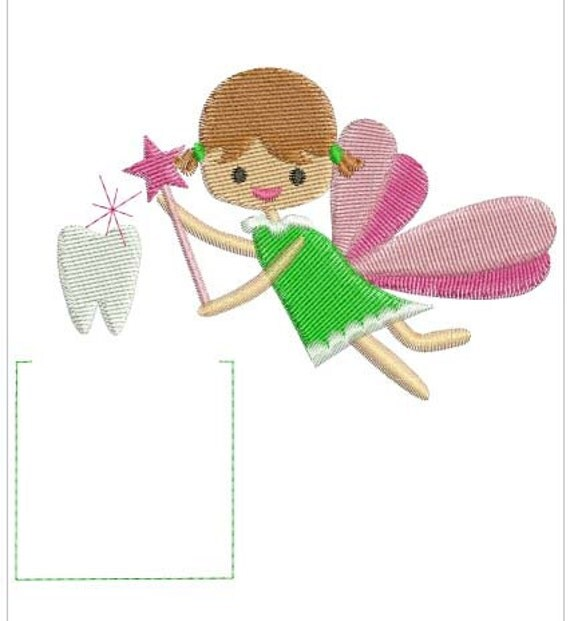 Free Machine Embroidery Design Tooth Fairy
