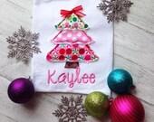 Christmas Tree Shirt- Christmas Shirt- Holiday Shirt- Christmas Applique Shirt