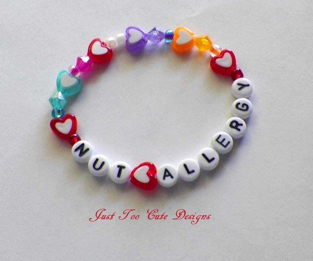 kid allergy bracelet child nut peanut allergy bracelet back to school custom item 3595