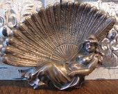 Vintage Bronze Art Deco Trinket Tray