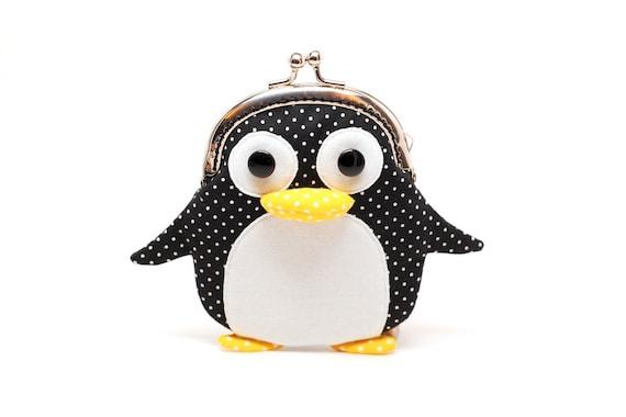 Cute little penguin clutch purse