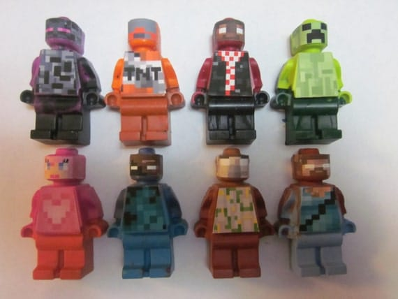 Mini Figure Crayons MINE CRAFT Inspired Favors