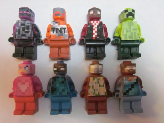 Mini figure crayons mine craft inspired crayons favors 24 set can be