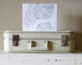 New York City Manhattan Gray and White 8x10 City map watercolor mounted on wood