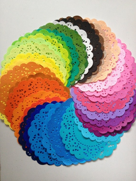 colored paper doilies Color white multi red pink gold white round disposable lace paper doilies cake placemats crafting coaster of regency paper lace doilies combo pack 12.