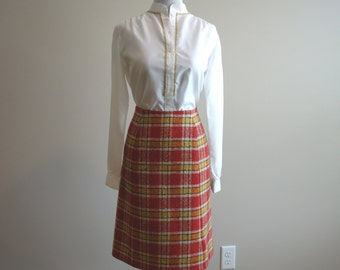 Vintage maxi skirt, long skirt, gypsy skirt, circle skirt, skater skirt, high waisted, mad men, 1960's, Pendleton skirt and vest