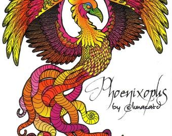 Phoenixopus - The Tentacle Collection - Original Art postcards