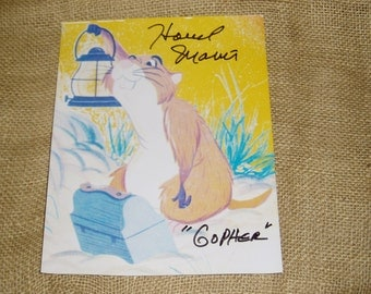 Autographed Photo, Howard Morris, Voice of Gopher in Winnie the Pooh, 1977