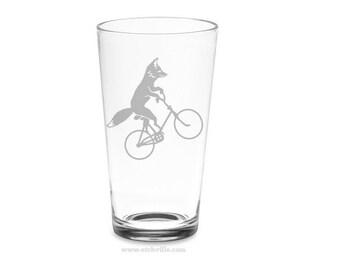 Fox Bike Pint glass
