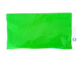 Dishwasher-safe reusable washable snack bag Lime