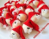 Pattern - Crochet Pattern -  Amigurumi Santa Claus Pattern, Crocheted Santa Pattern, Christmas Gifts, Christmas ornaments, Tutorial