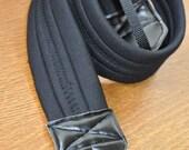 Black Neoprene Camera Strap