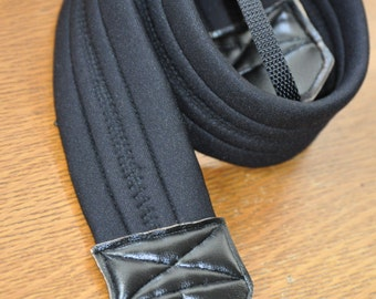Black Neoprene Camera Strap
