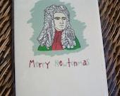 Merry Newtonmas Big Bang Theory Card