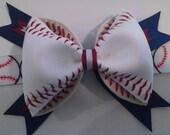 Custom Baseball Hair Bow