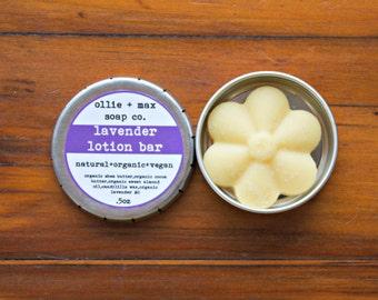 Mini Lavender Lotion Bar, 1/2oz,Vegan Lotion, Solid Lotion, Organic Lotion, Natural Lotion