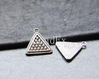 10pcs / Triangle / Oxidized Silver Tone / Base Metal / Charms (YA14237//O259)