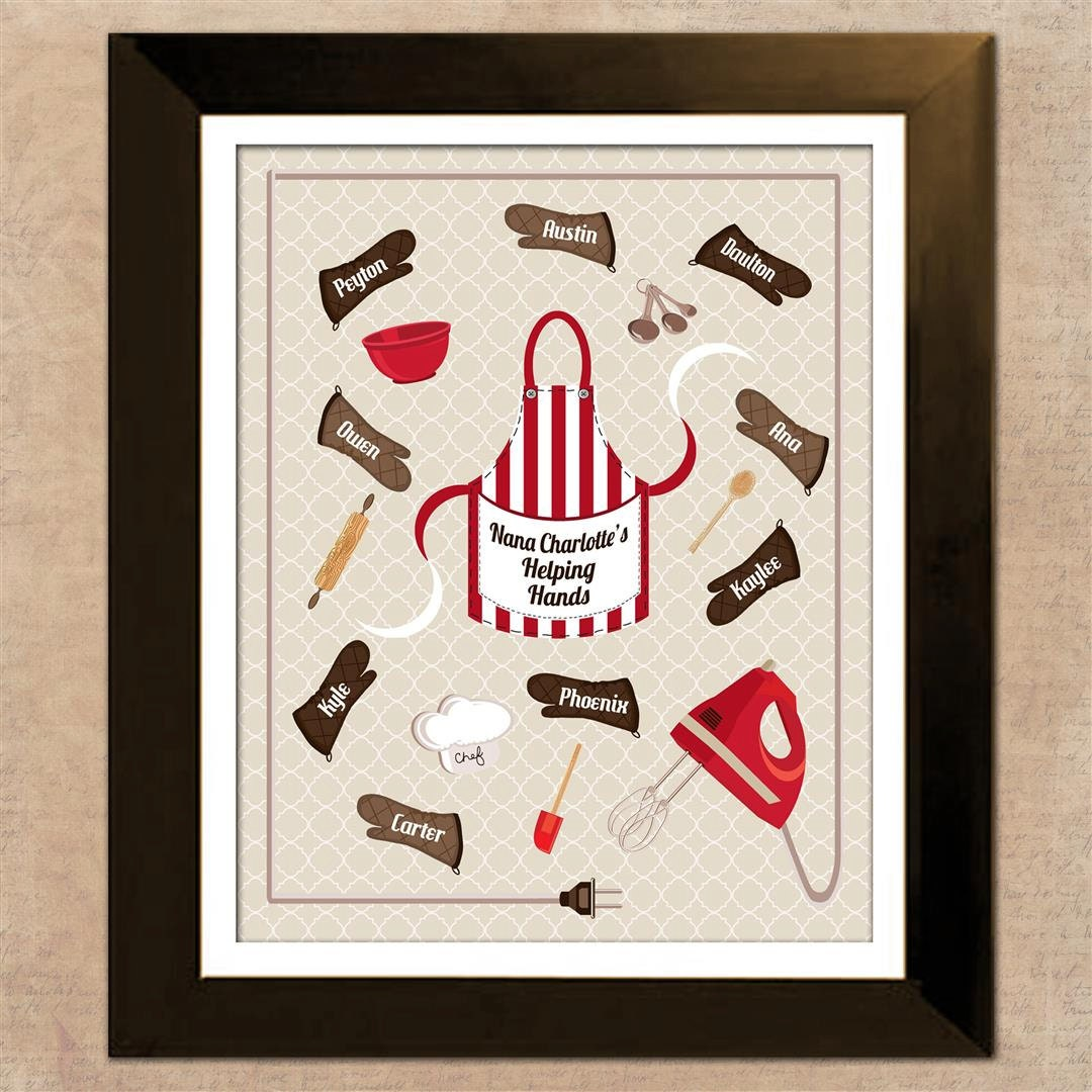 Retro Kitchen Artwork: Retro Kitchen Art Print Personalized Gift For By