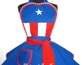 Captain America Costume Apron