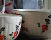 "Medium Hall Red Poppy 7.5 "" Serving Bowl or set of 2 bowls"
