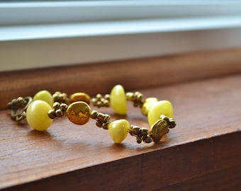 Sunny Yellow and Gold Bracelet