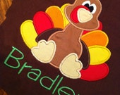 Thanksgiving Baby and Childrens Sibling Outfit (Bodysuit OR Shirt) Personalized Turkey