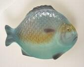 1960's English Fish Platter / Serving Dish - Vibrant Colours