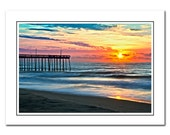 Ocean Sunrise Photo Card with Envelope, Beach Greeting Card, Sunrise Art Card, Thank You Card, notecard