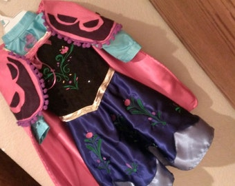 Staci's Special Order - Frozen Inspired Princess Anna w/ cape and special details