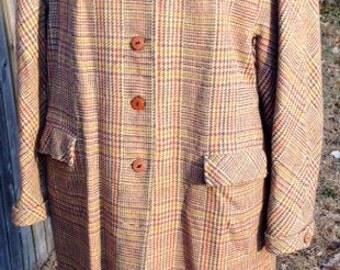 Vintage Lassie Maid Womens Plaid Jacket International Ladies Garment Workers Union
