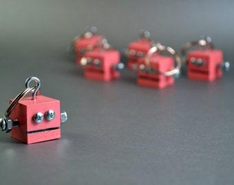 Pink Robot Keychain
